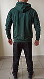 Спортивный костюм puma зелёный, серый, фото 4