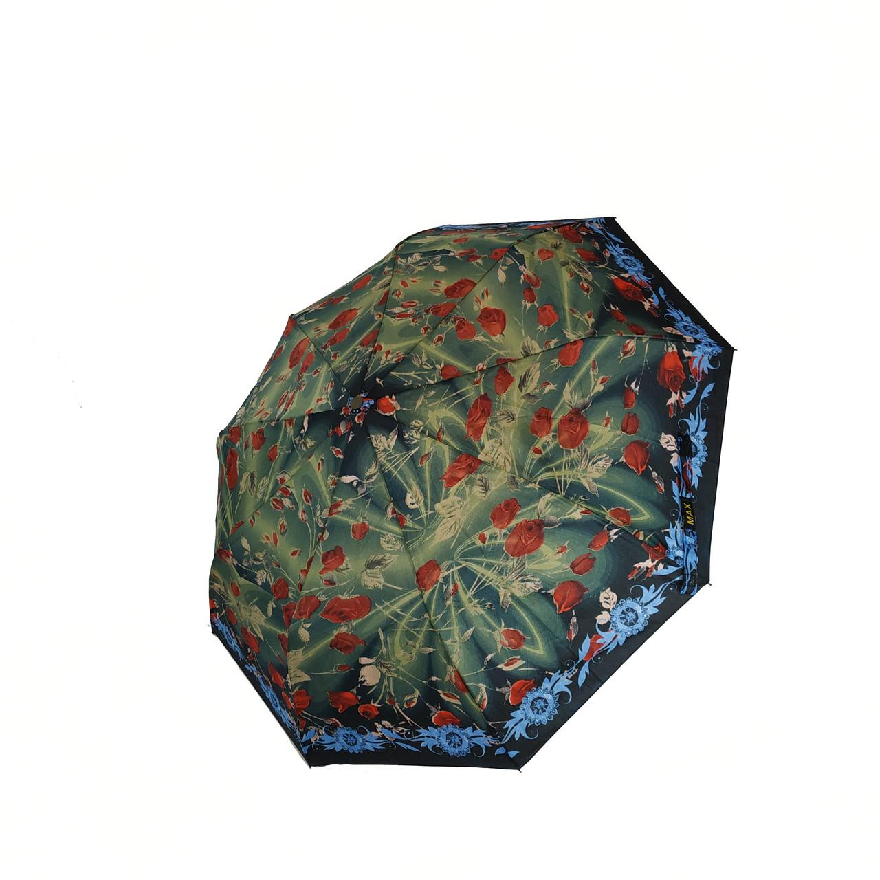 Женский зонт полуавтомат Max с яркими красочными принтами на 9 спиц, 3058-1
