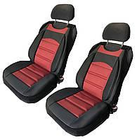 Майки-накидки на передние сиденья черно-красного цвета
