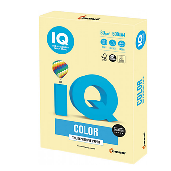 Бумага А4 IQ YE23 Yellow (желтый)