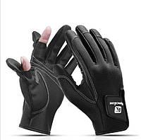 Перчатки автомобильные, велосипедные, для рыбалки (ЗП-107) XL, Черный
