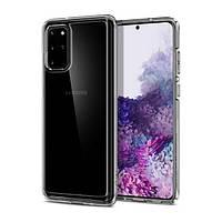 Накладка для Samsung Galaxy G985 S20 Plus Spigen Ultra Hybrid Crystal Clear