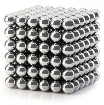 Игрушка NEO CUB Silver. Неокуб, магнитные шарики 216 шт, размер 5 мм