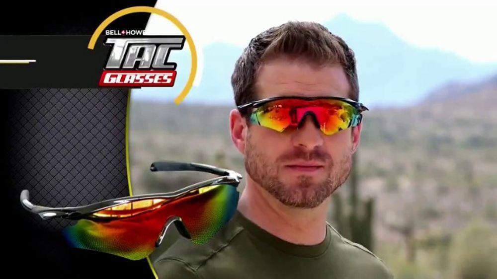 Солнцезащитные очки поляризационные Bell Howell TAC Glassess в стиле милитари, черные