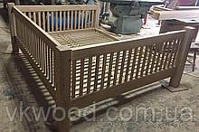 Дерев'яне ліжко дубове двухспальне Деревянная двухспальная дубовая кровать