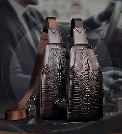 Мужская сумка через плечо «Alligator» BAG FEIDIKABOLO