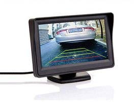 """Монитор в авто 4.3"""" с козырьком. Ультратонкий экран (М1-103) Черный, PAL, NTSC"""