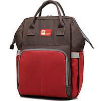 Рюкзак для мамы (СДМ-103) Коричневый с красным