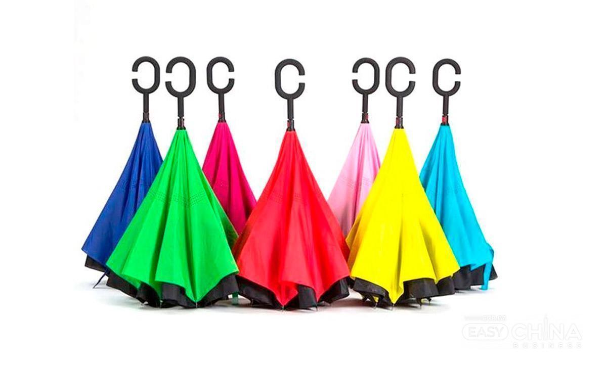 Зонт наоборот Up-Brella Ветрозащитный зонт обратного сложения