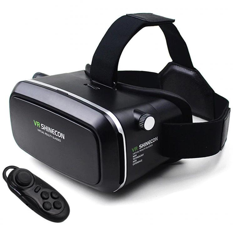 Шлем виртуальной реальности VR BOX Shinecon 6,0 3D с пультом, Черный