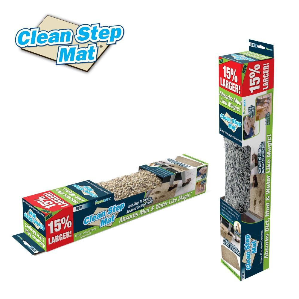 Впитывающий придверный коврик Clean Step Mat, коврик в прихожую, подстилка под дверь