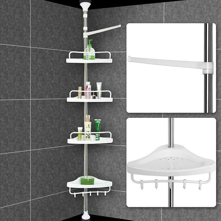 Полка для ванной комнаты Aidesen Multi Corner, угловая, телескопическая этажерка