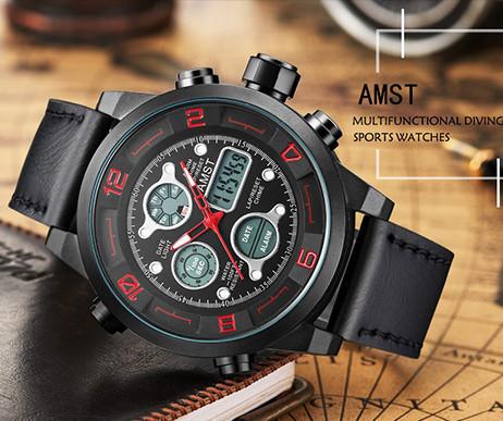 Армейские водонепроницаемые часы AMST SPORT
