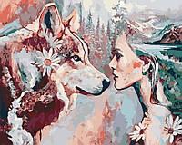 Художественный творческий набор, картина по номерам Душа волчицы, 50x40 см, «Art Story» (AS0189), фото 1