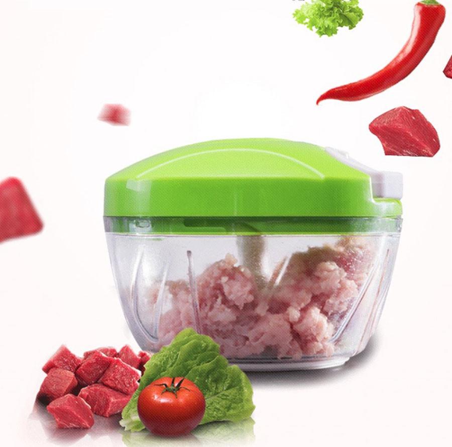 Ручной измельчитель Nicer Dicer Speedy Chopper для овощей и фруктов. Зеленый