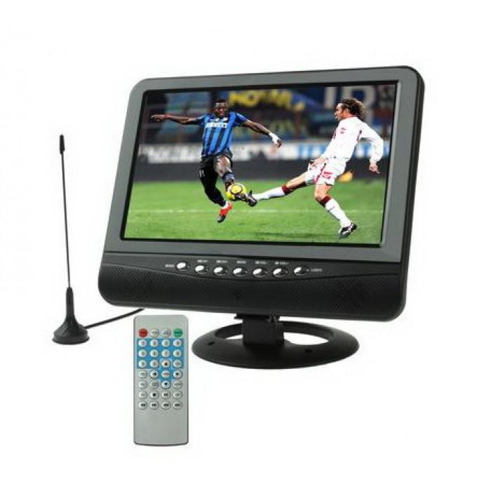 Автомобильный портативный телевизор с T2 9.5 дюйма OPERA OP-902, с аккумулятором, черный