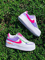 ✔️ Кроссовки женские Nike Air Force 1 Low White/Violet Shadow - Найк Аир Форс Низкие