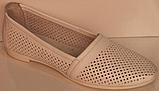 Балетки літні шкіряні від виробника модель РУ225-2, фото 2
