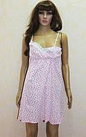 Ночная рубашка для беременных и для кормящих мам на бретельках летняя розовая 44-54р.