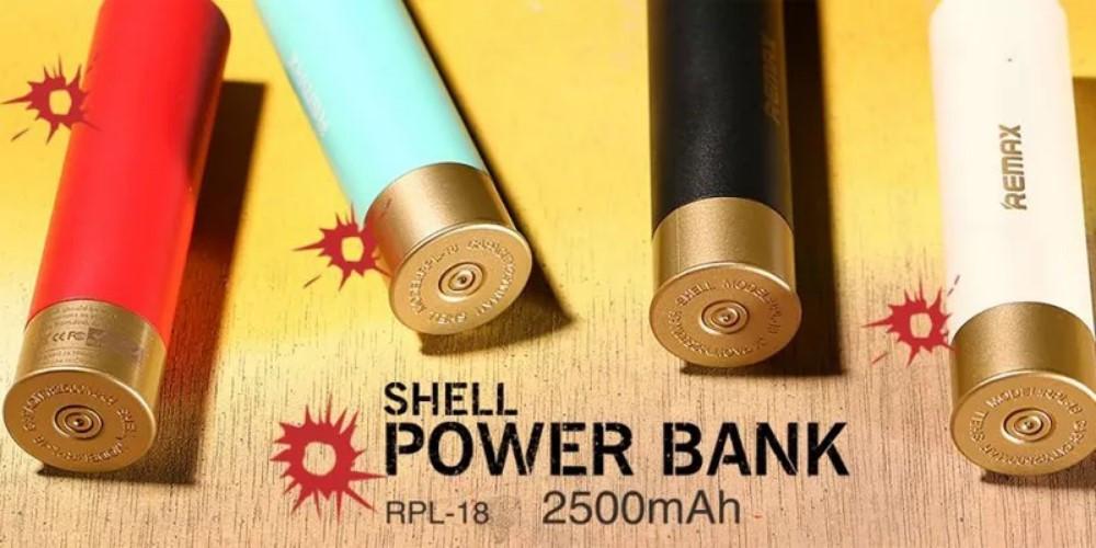 Портативное зарядное устройство Remax Shell POWER BANK, 2500mAh, разные цвета