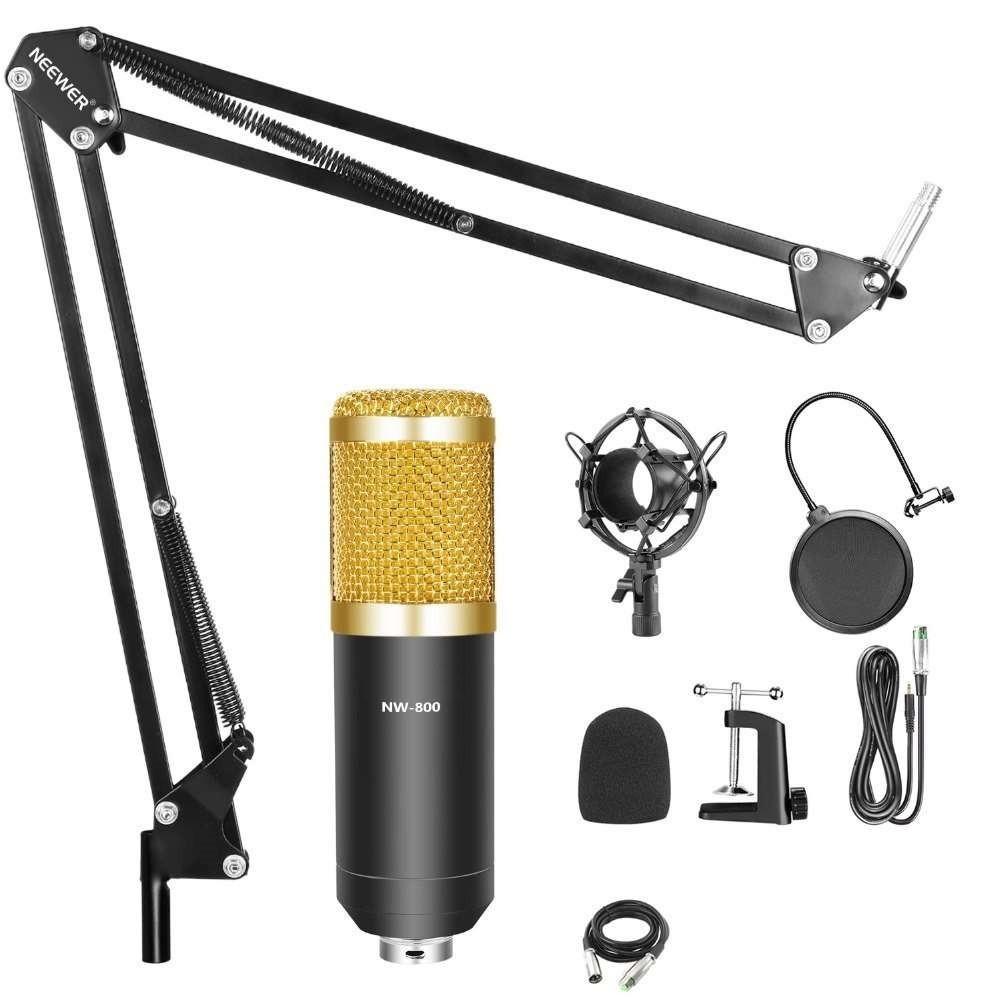 Профессиональный микрофон с фильтром Music M-800 направленный студийный микрофон для пк