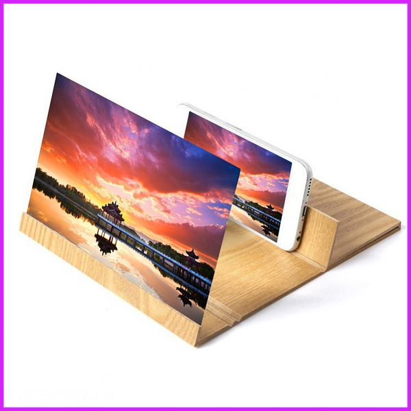 3D Увеличитель экрана для телефона Enlarget Screen Magnifier, линза Френеля, дерево