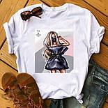 Женская стильная белая и черная футболка с рисунками (разные рисунки), фото 10