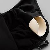 Комплект женский для дома и сна из 3х предметов атласный. Набор - халат, шорты, майка, р.  L, фото 9