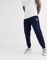 Мужские спортивные штаны Adidas (Адидас) Темно-синие летние