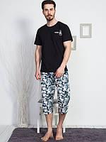 Пижама мужская шорты и футболка, M, L, XL, 2XL, Gazzaz