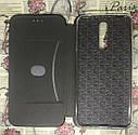 Чехол-книжка Xiaomi Redmi 8 флип бампер накладка цветной черный на магните, фото 3