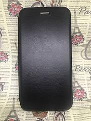 Чехол-книжка Xiaomi Redmi 8 флип бампер накладка цветной черный на магните
