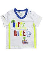 Футболка для мальчика Happy Bike, р.68, ТМ Смил