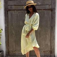 Ассиметричное платье льняное, цвета в ассортименте.