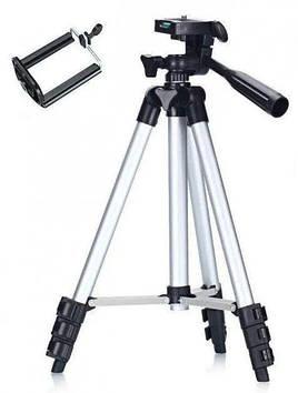 Штатив-тренога для телефона, камеры, фотоаппарата, трипод 3110 + подарок крепление для телефона