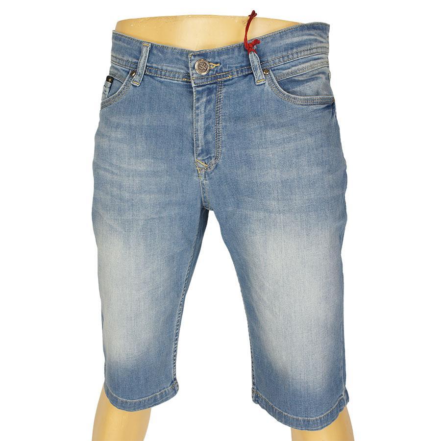 Джинсовые мужские шорты X-Foot 020-4078 Blue в больших размерах