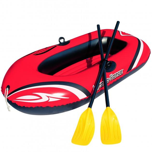Лодка надувная одноместная гребная с веслами BestWay Hydro-Force Raft Set