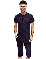 Пижама мужская бриджи и футболка, L, XL, 2XL, 3XL, Cotpark