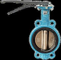 Задвижка Баттерфляй Ду 125 с чугунным диском уплотнение EPDM