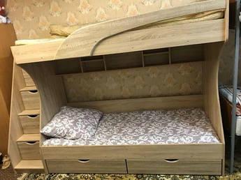 Двухъярусная кровать Кадет дуб сонома