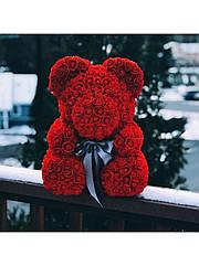 Средний Мишка из роз в КОРОБКЕ 3D Oh My Teddy  25 см высотой