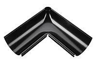 Внутренний угол металлический черный 90° Aqueduct 125/87