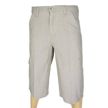 Хлопковые мужские шорты Weird 985 Н бежевого цвета