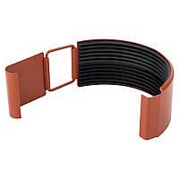 Соединение желоба металлическое терракот Aqueduct 125/87
