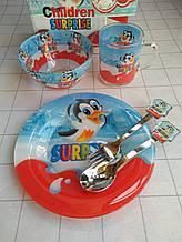 Дитячий набір скляного посуду для годування Кіндер 5 предметів