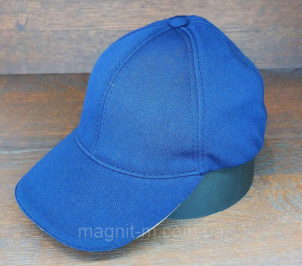 Бейсболка мужская однотонная. Синий цвет. (Розница)