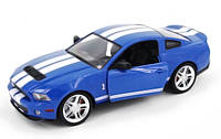 Радиоуправляемая машинка на пульте Ford Mustang GT500, лицензионная модель 1:14 (синий)