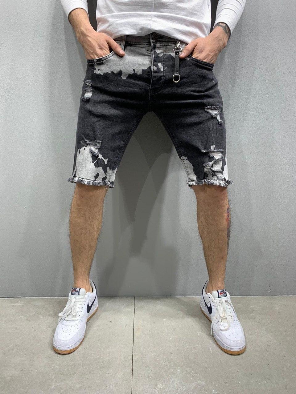 😜 Шорты - Мужские стильные (черные) шорты люкс качества