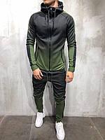Мужской спортивный костюм градиент 2Y Premium 9080 khaki, фото 1