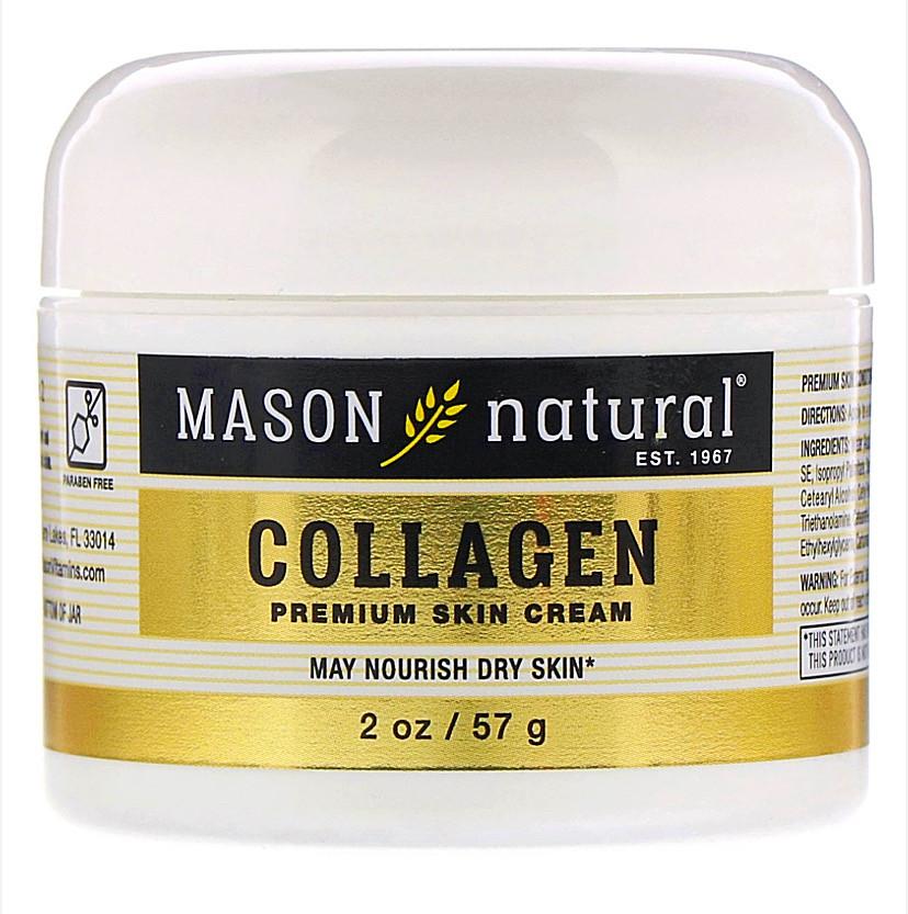Крем с коллагеном премиального качества, с ароматом груши, 57 г. Mason natural
